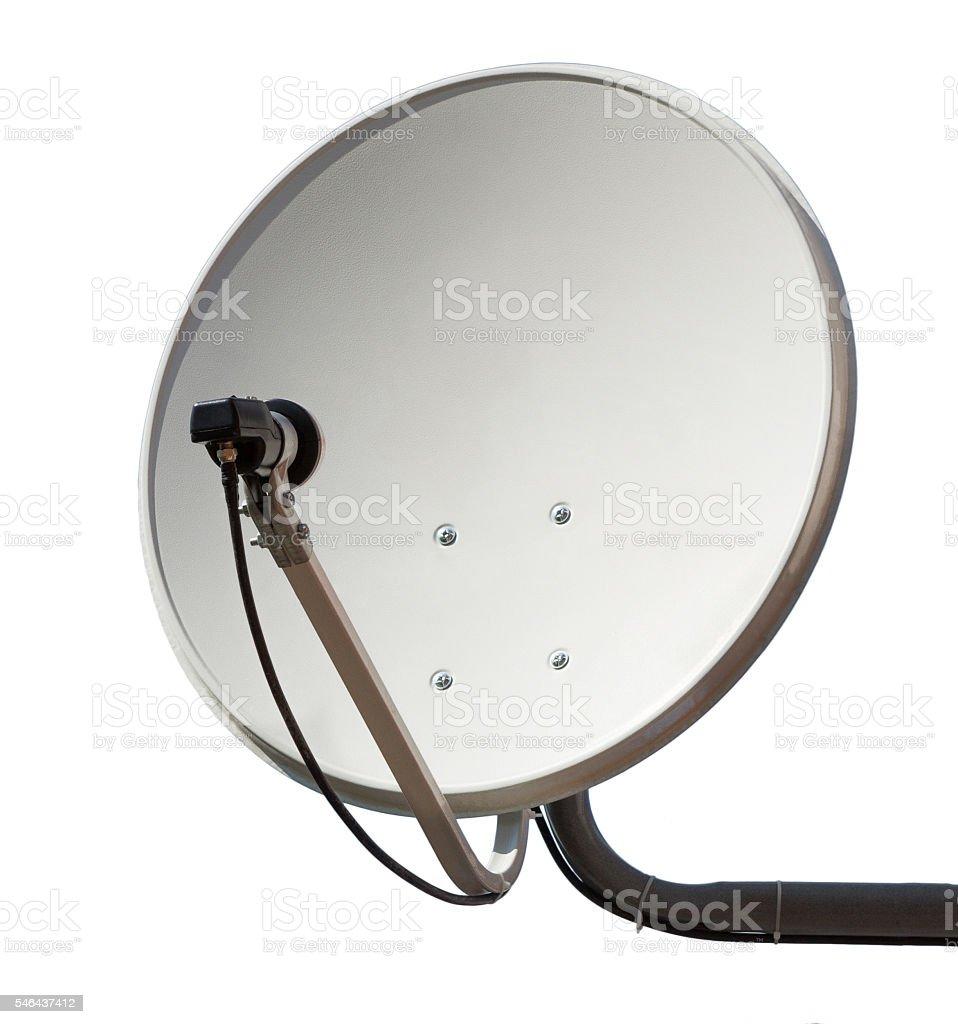 Satellite dish aerial antenna. stock photo