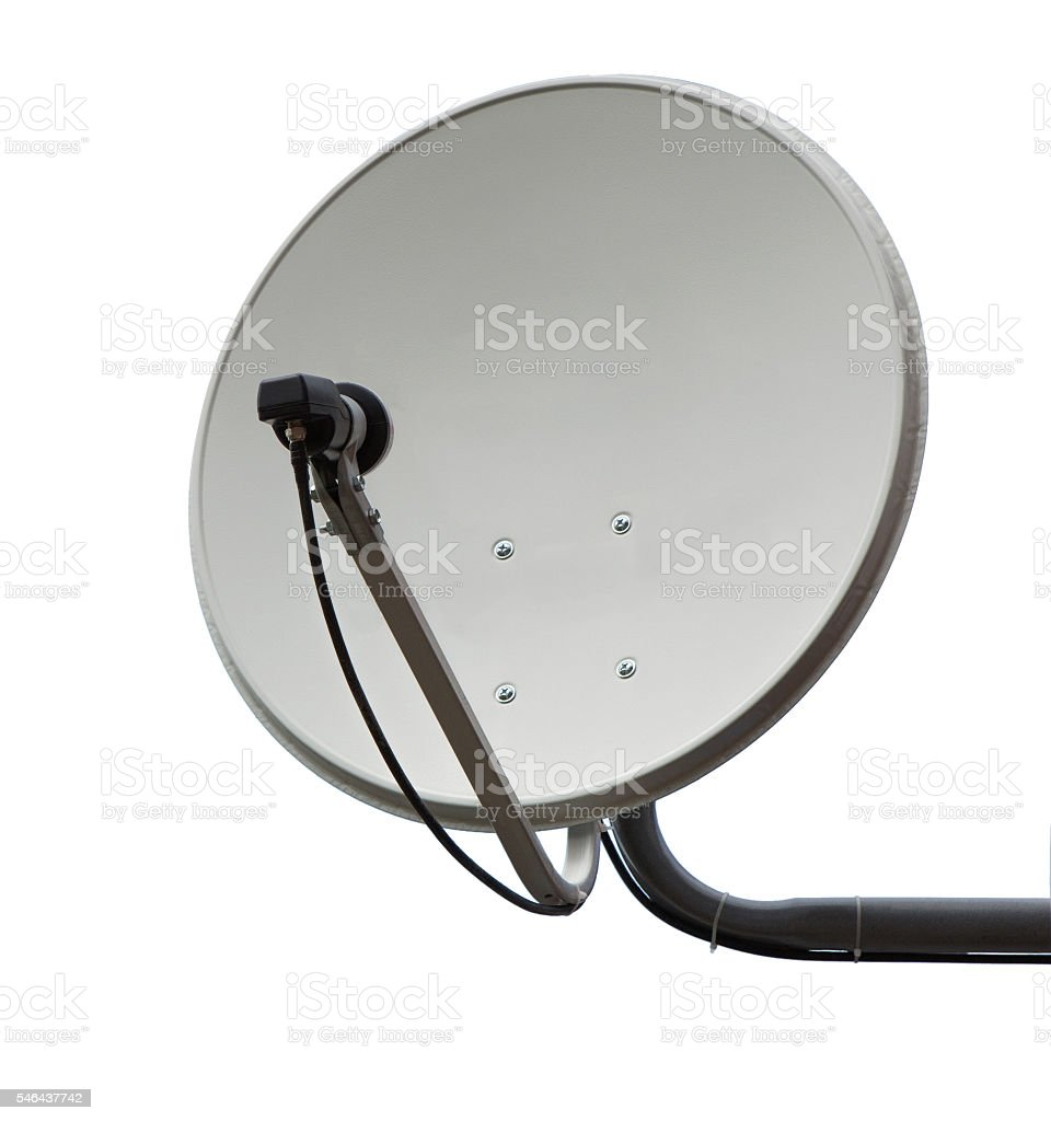 Satellite dish aerial antenna. stock photo