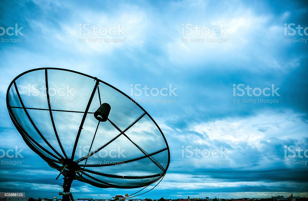 satellite dish and nimbus stock photo