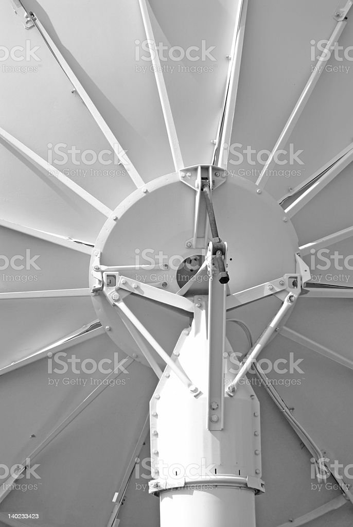 Satellite Dish Antenna Macro royalty-free stock photo