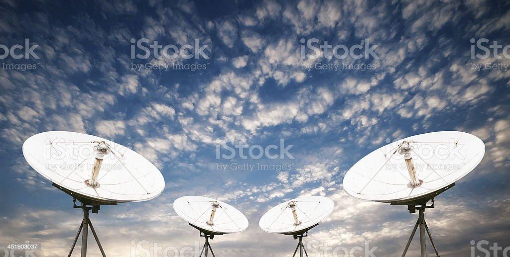 satellite dish antennas royalty-free stock photo