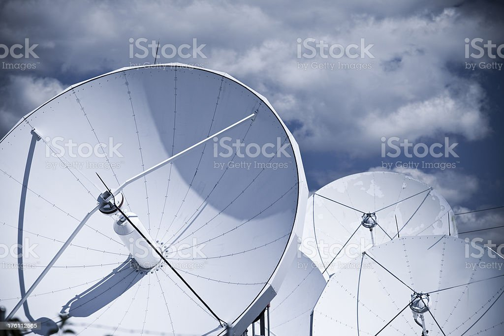 Satellite dish array royalty-free stock photo