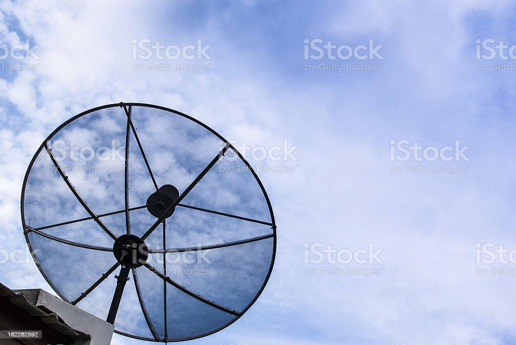 Satellite dish for communication royalty-free stock photo
