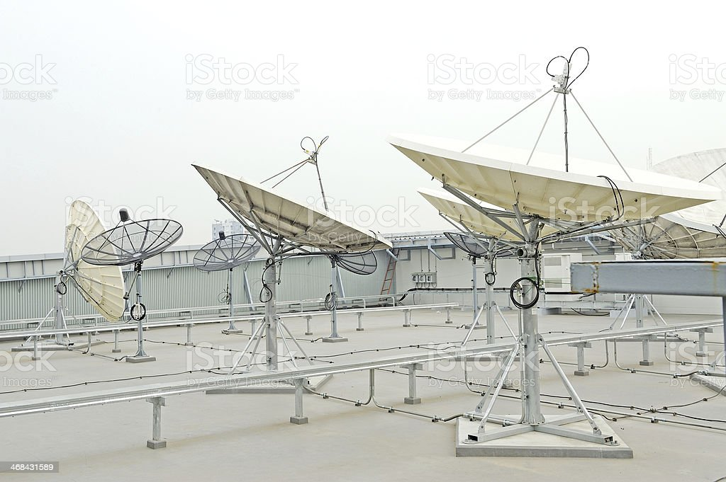 satellite dish for telecommunications royalty-free stock photo