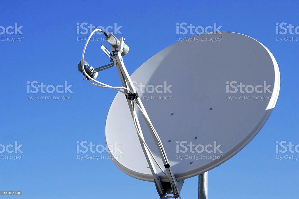 Satellite Dish house royalty-free stock photo