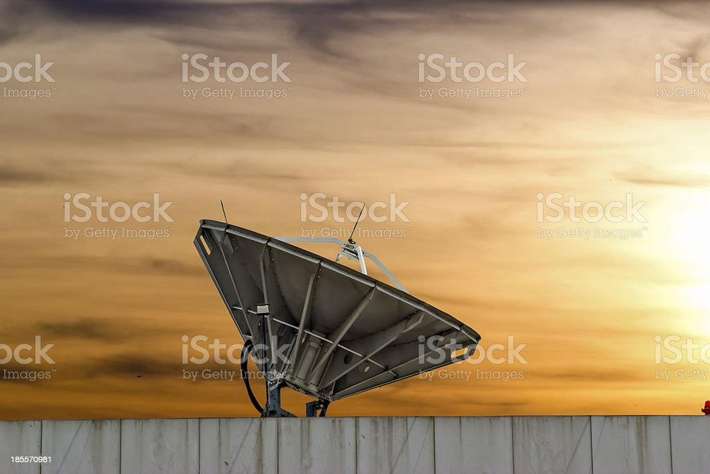 satellite dish near chonburi thailand royalty-free stock photo