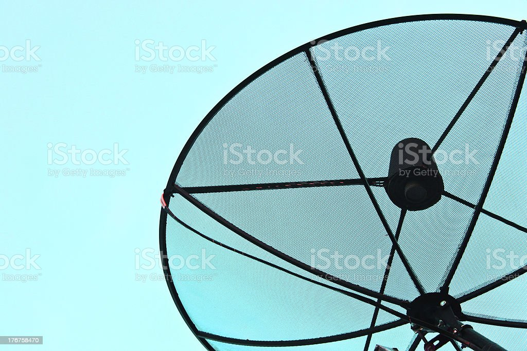 Satellite dish on the roof. royalty-free stock photo