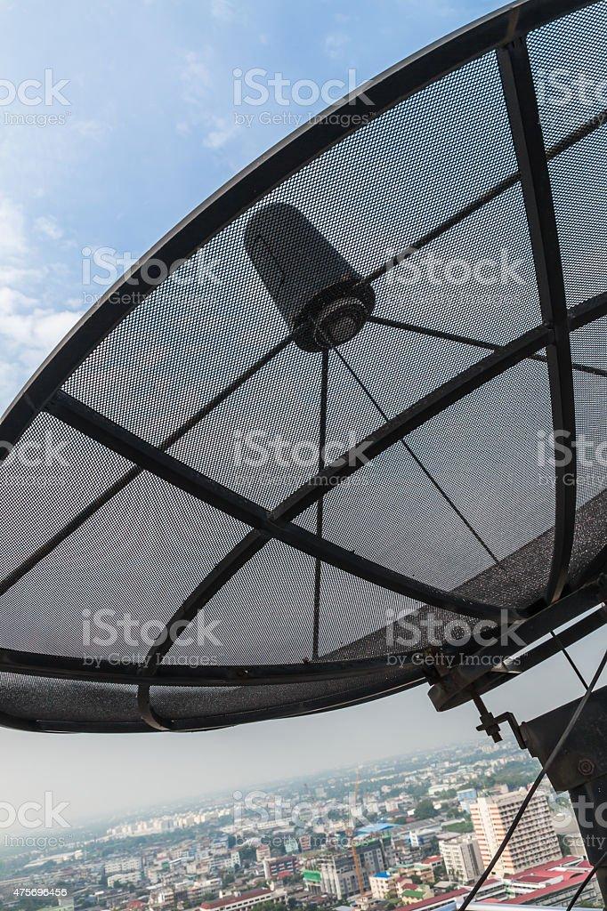 Satellite dish. stock photo