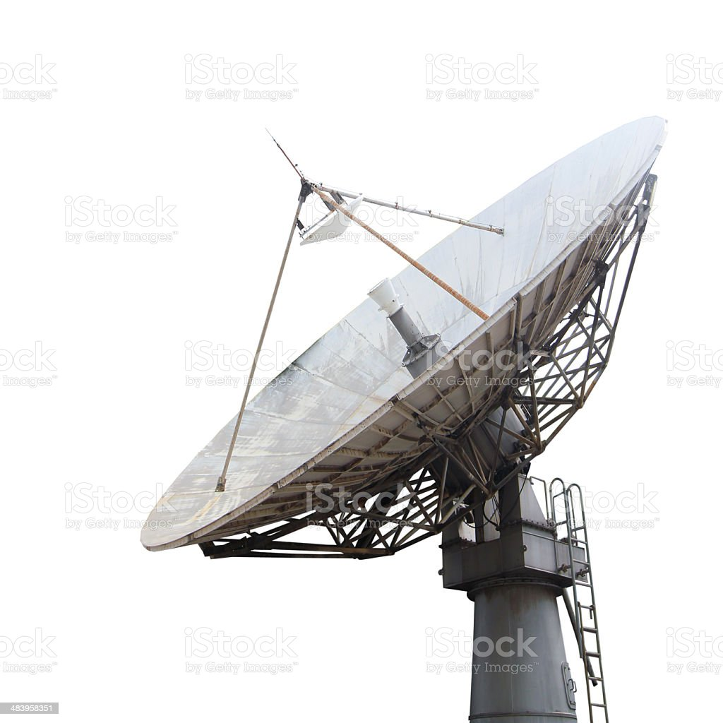 Satellite dish stock photo