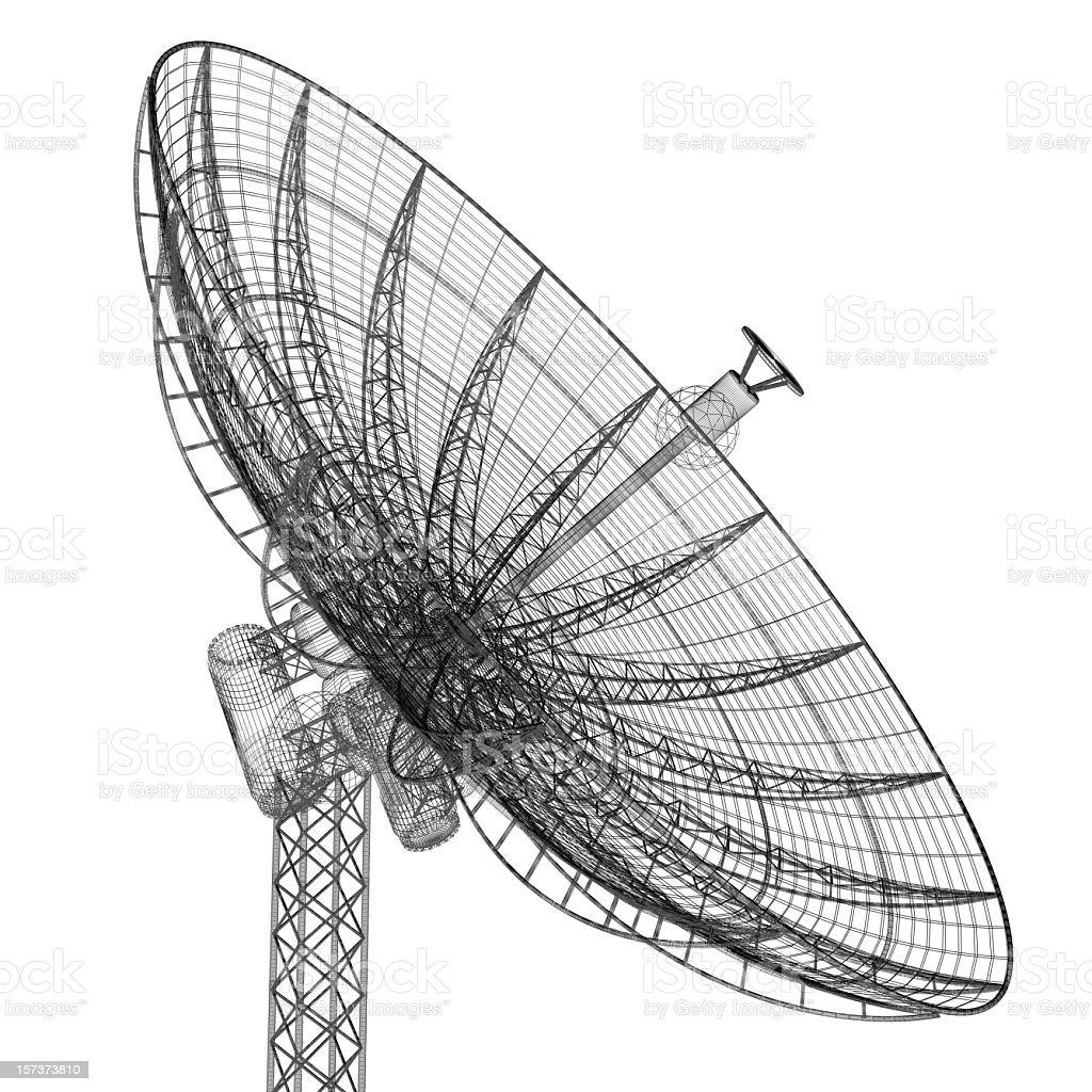 Satellite dish pointing skywards royalty-free stock photo