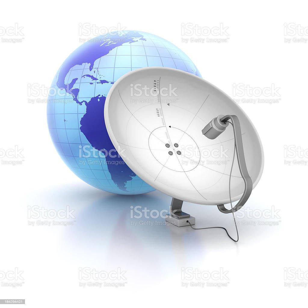 satellite dish receiver stock photo