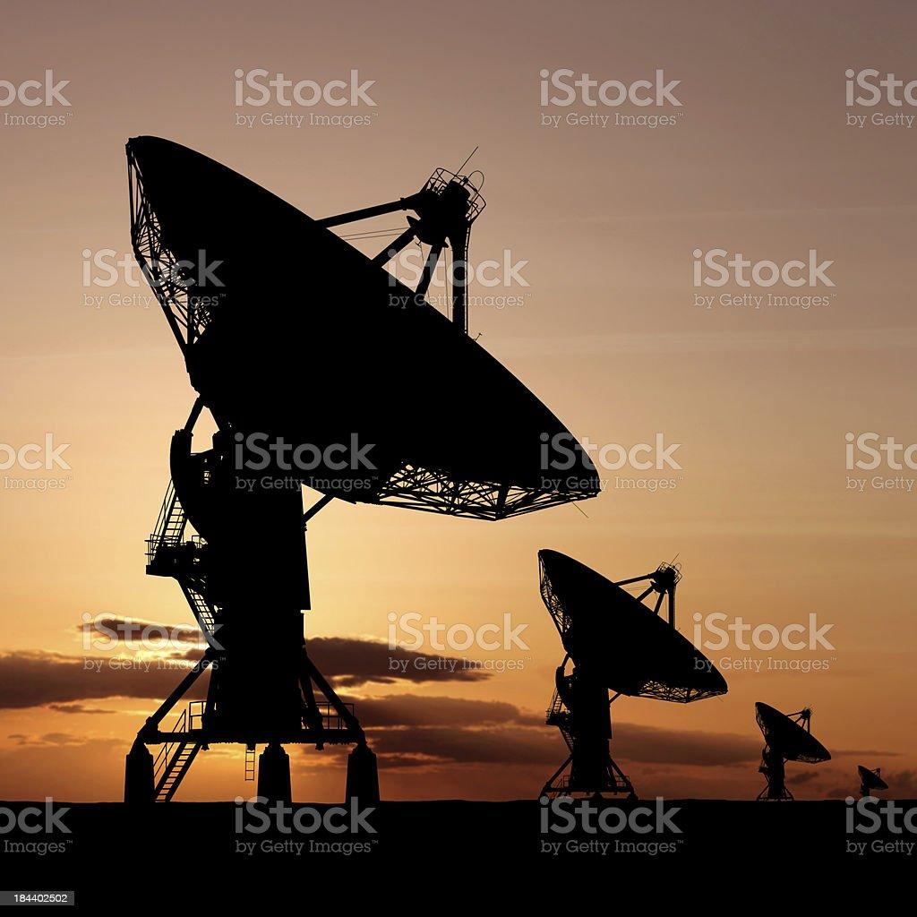 XXXL satellite dish silhouette royalty-free stock photo
