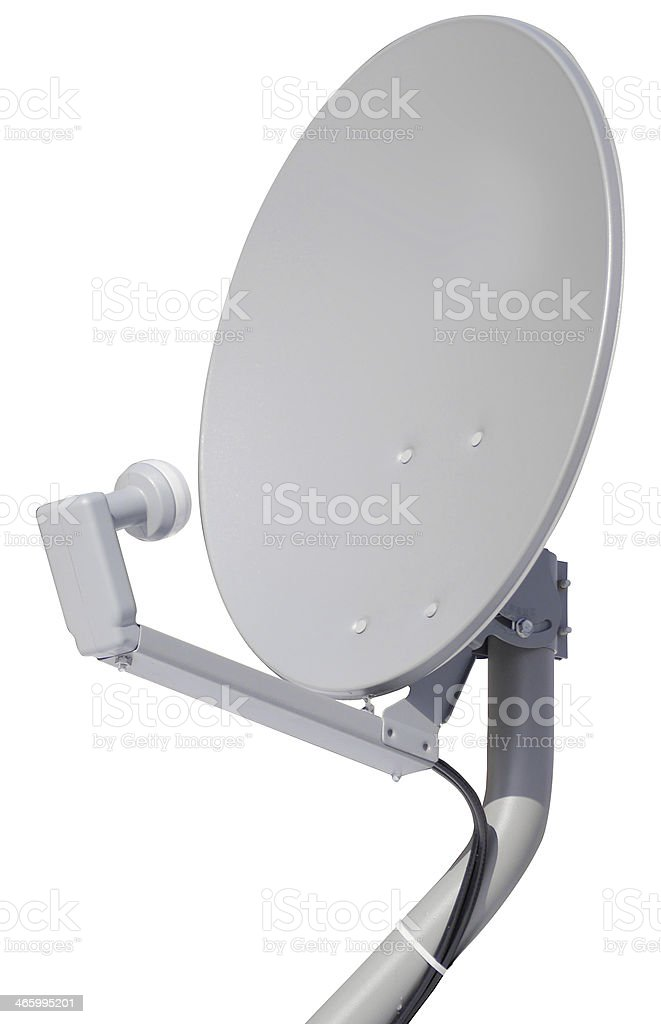 Satellite Dish with Clipping Path stock photo