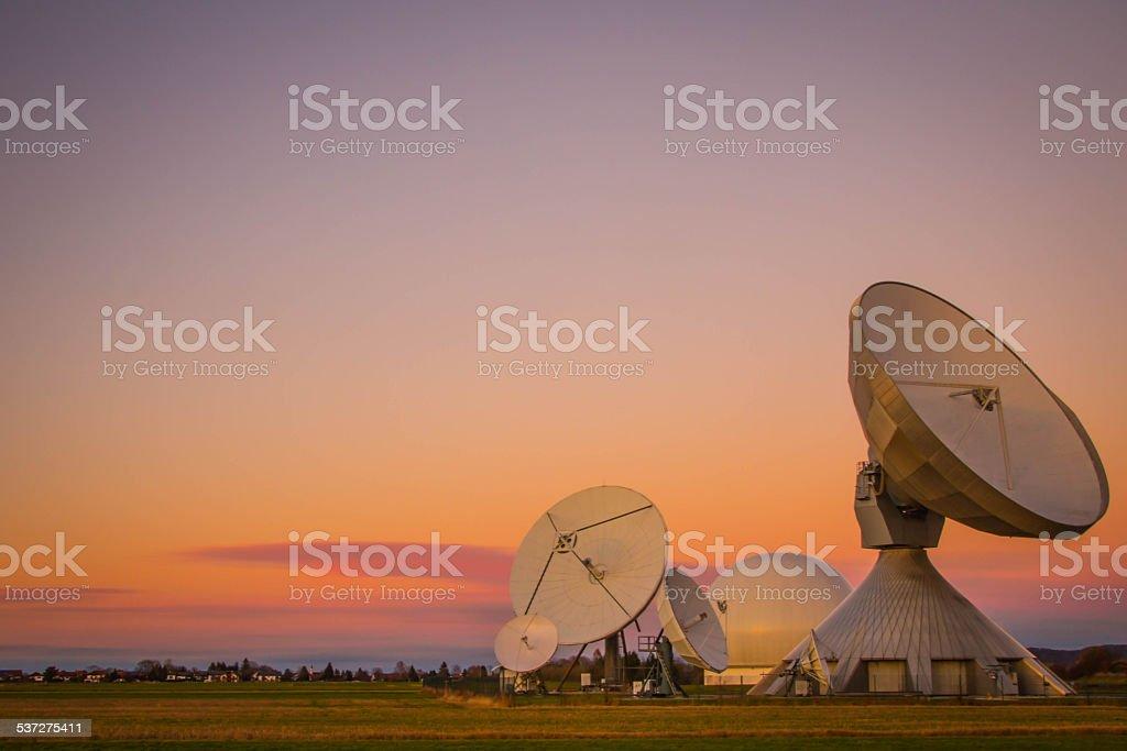 Satellite Earth Station in Raisting, Bavaria. stock photo