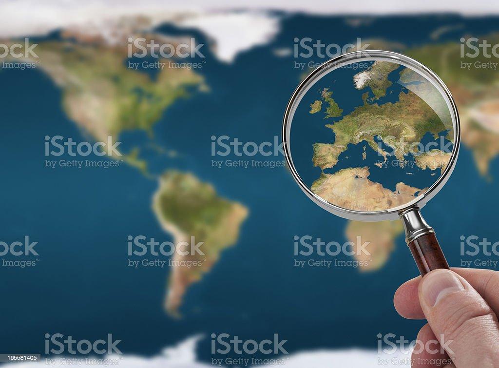 Satellite map stock photo