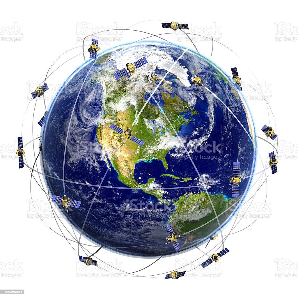 Satellite Network royalty-free stock photo