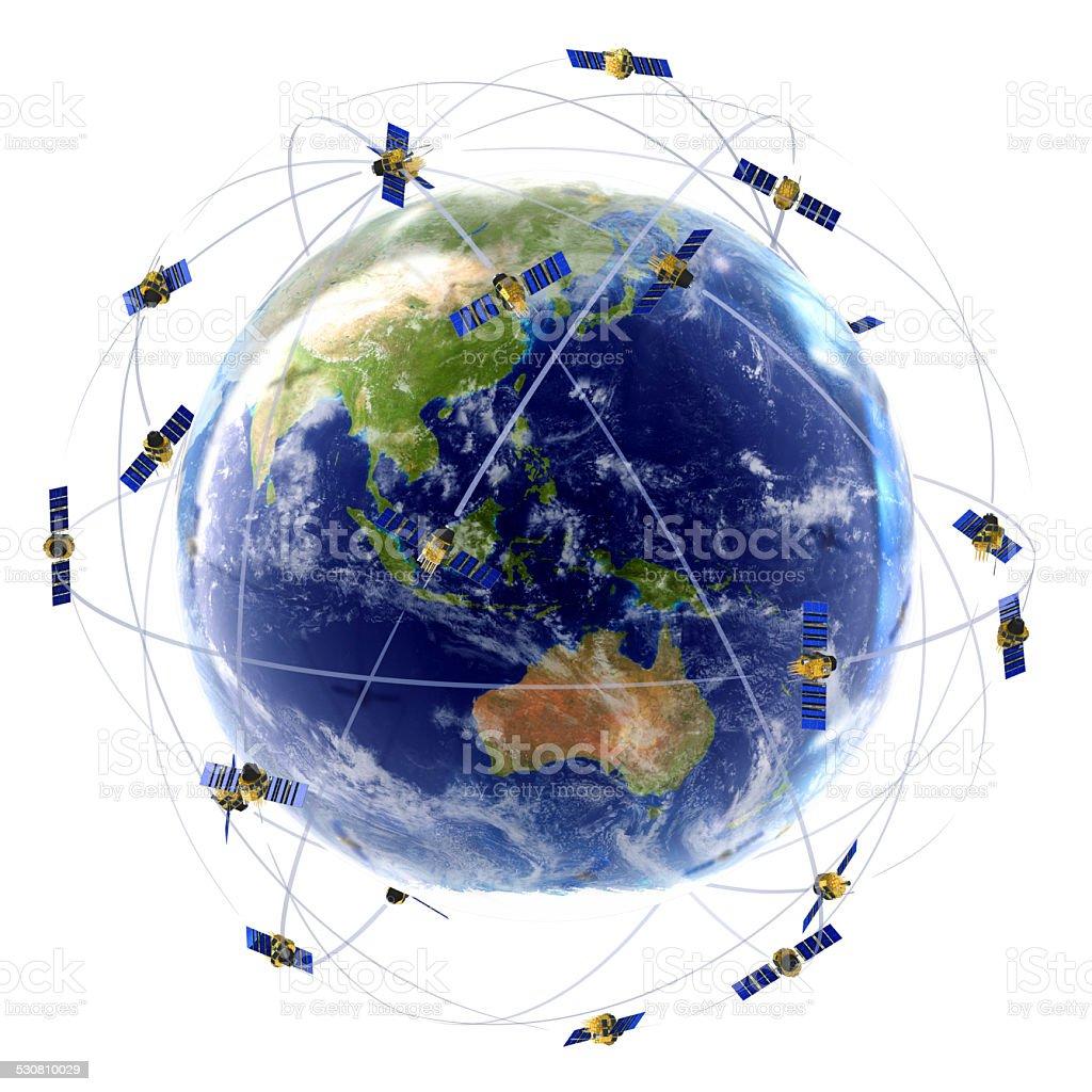 Satellite Network stock photo