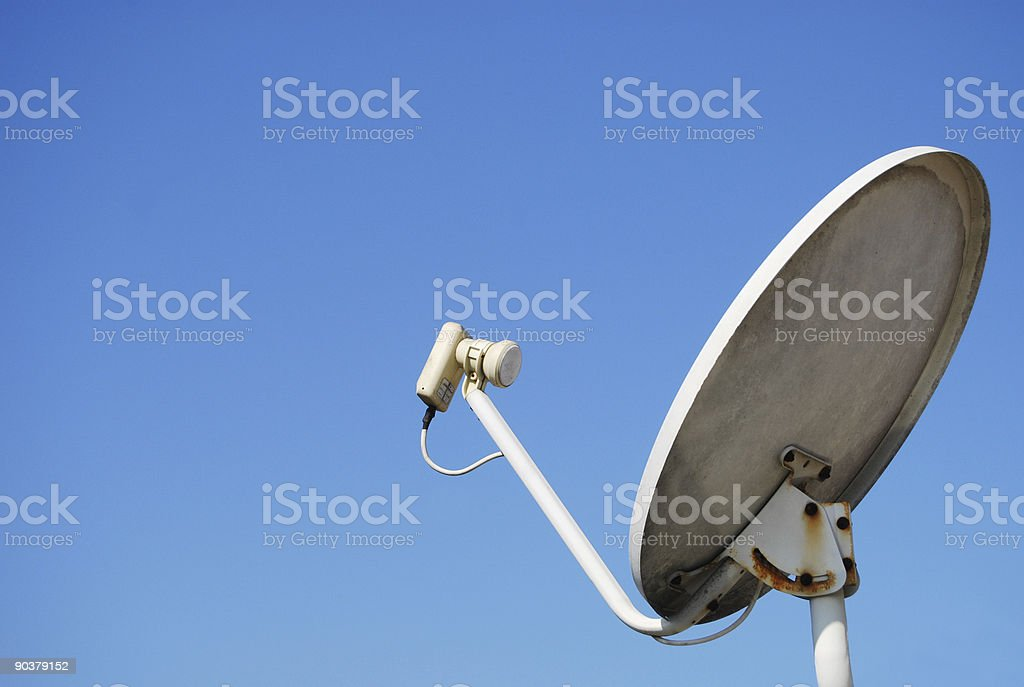 Satellite Receiver - Clipping path royalty-free stock photo