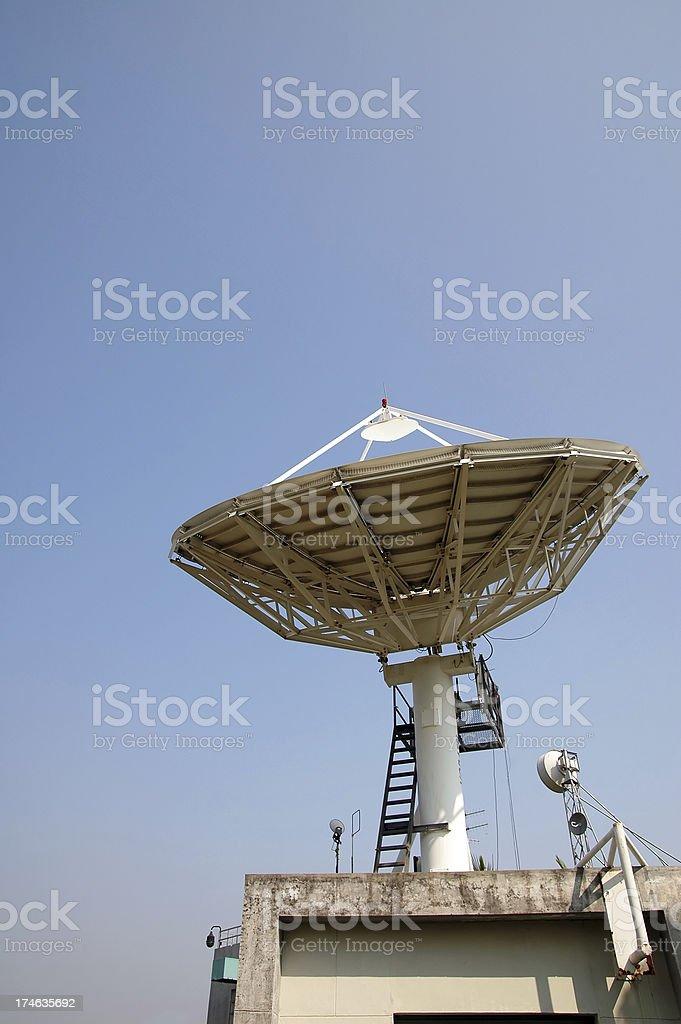 Satellite Receiving Signal royalty-free stock photo