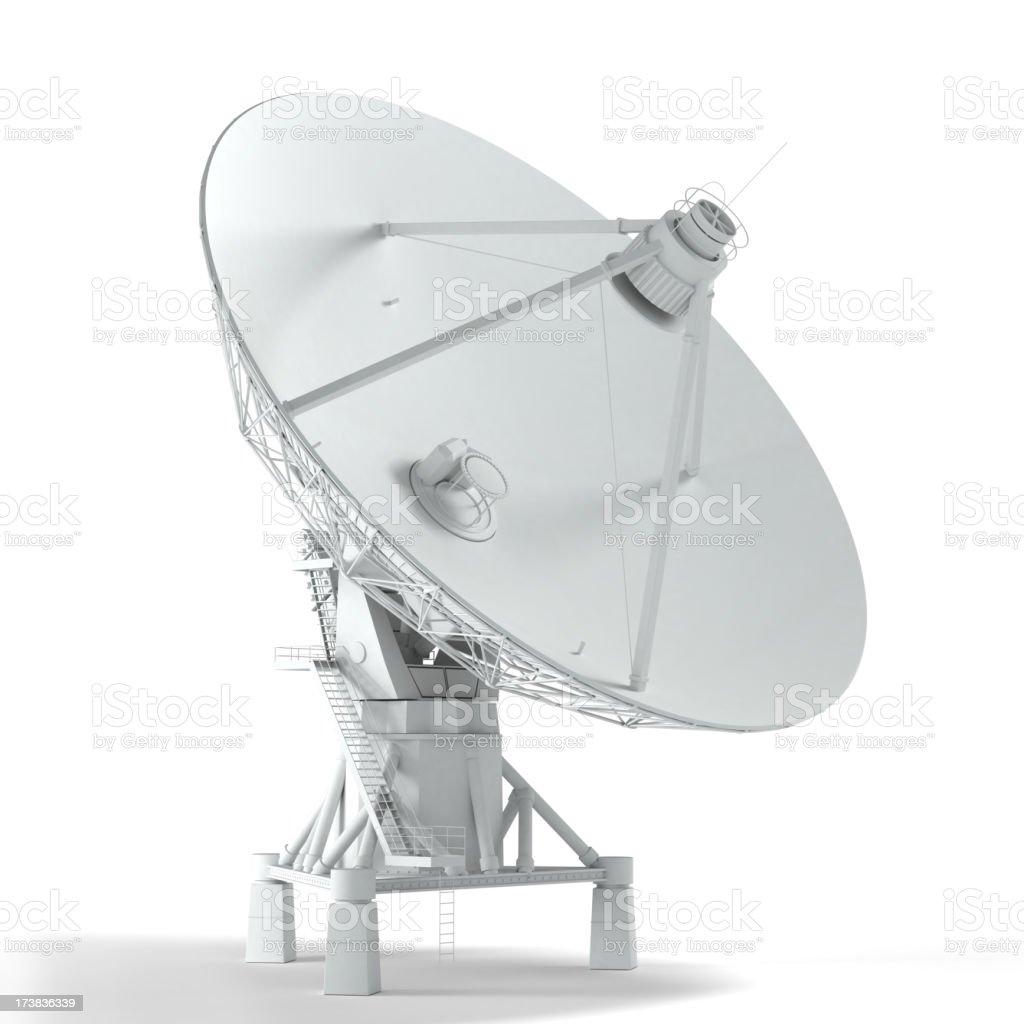 VLA - satellite telescope isolated on white royalty-free stock photo