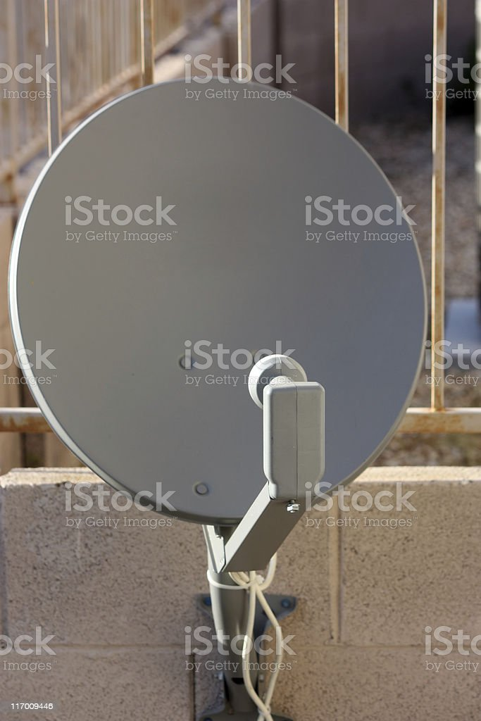 Satellite TV Dish royalty-free stock photo