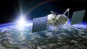 Satellite under planet