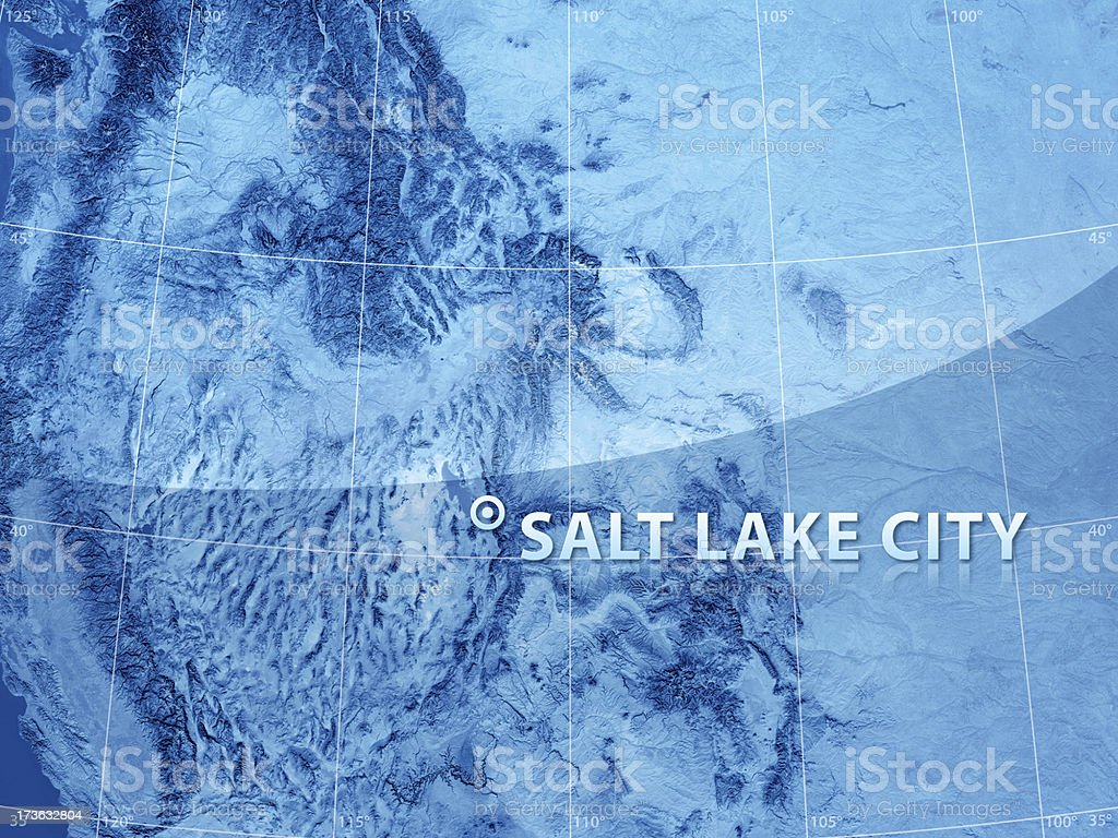 Satellite View Salt Lake City stock photo