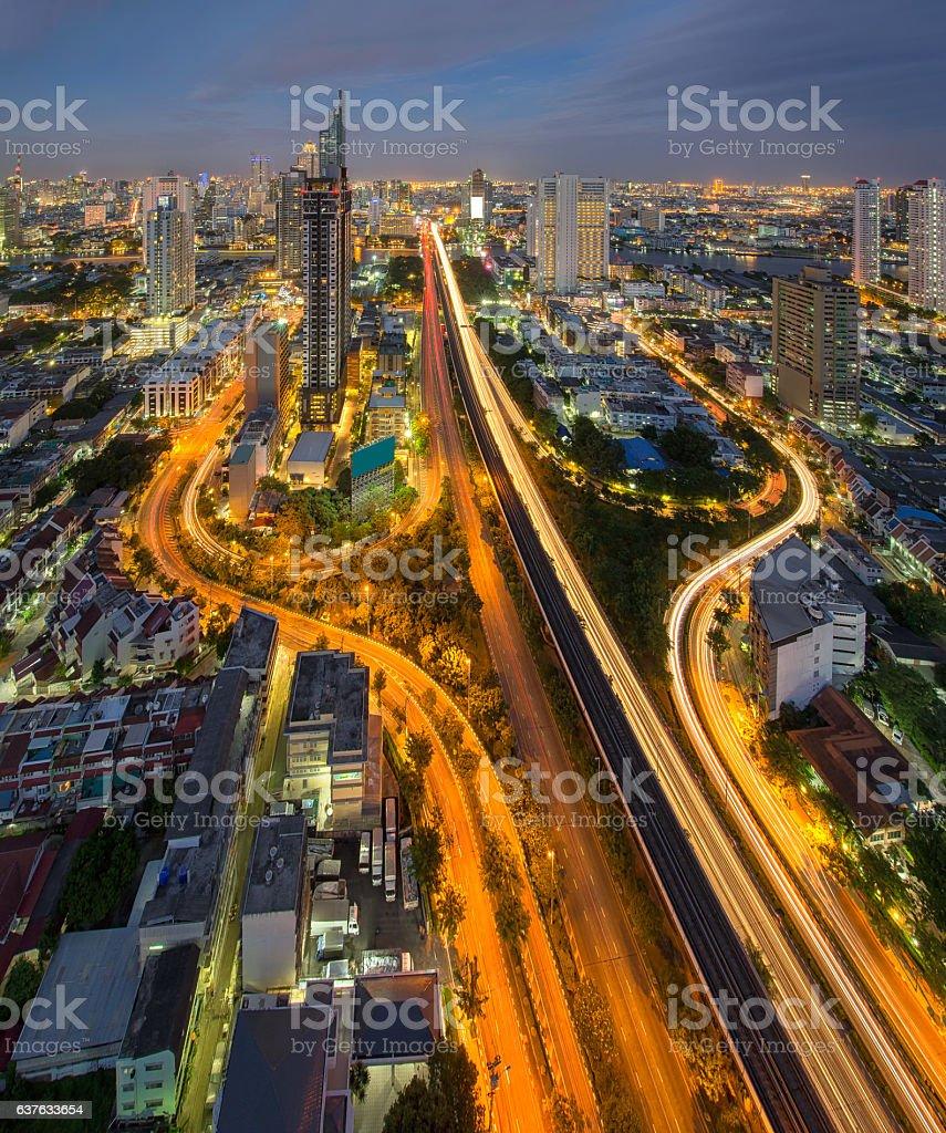 Sathorn, Bangkok, Thailand stock photo