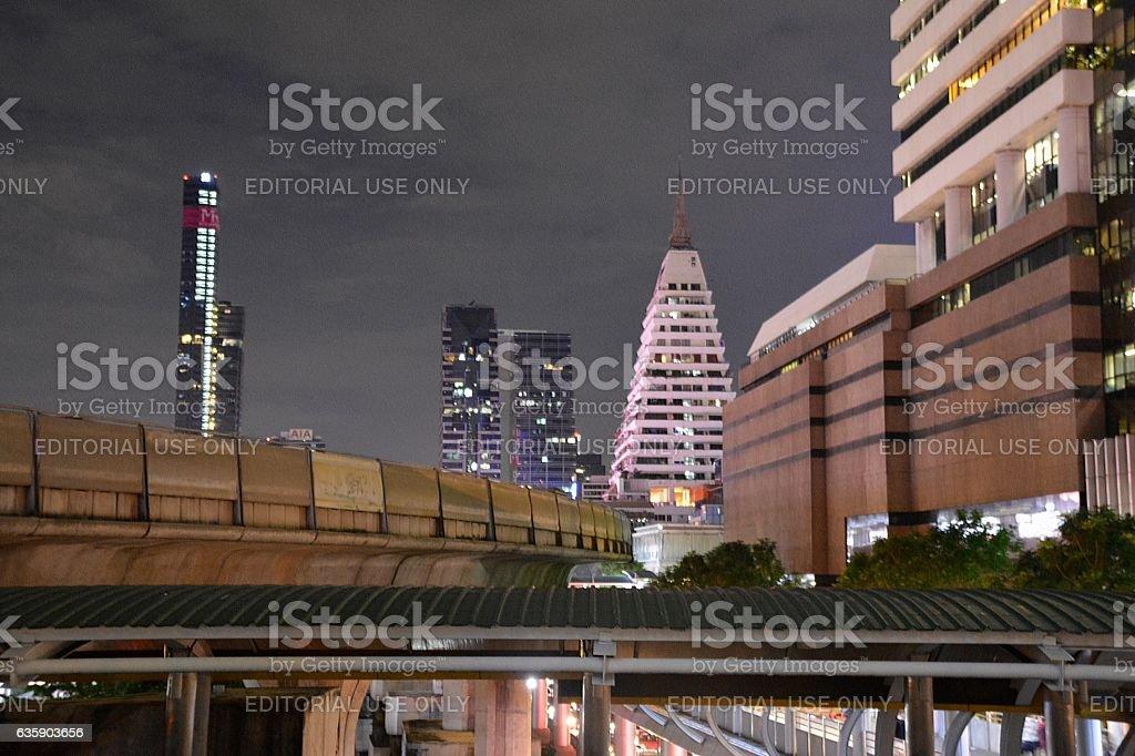 Sathorn business district skyline, Bangkok, Thailand stock photo