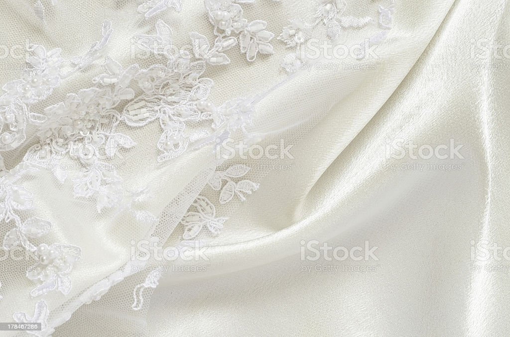 Satin and lace stock photo