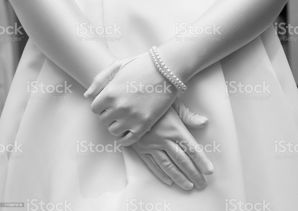 Satin Gloves royalty-free stock photo