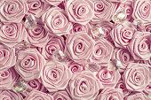 Satin roses and crystals