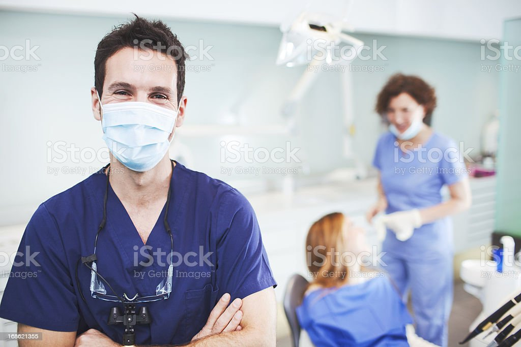 Satisfaction after succesful surgery. stock photo