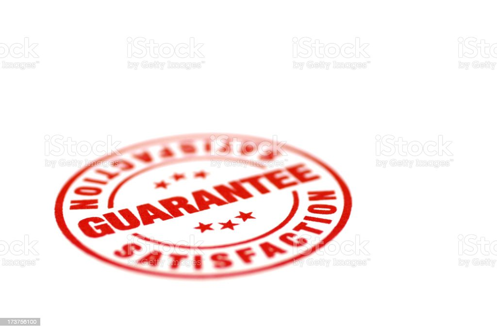 Satisfaction Guarantee royalty-free stock photo