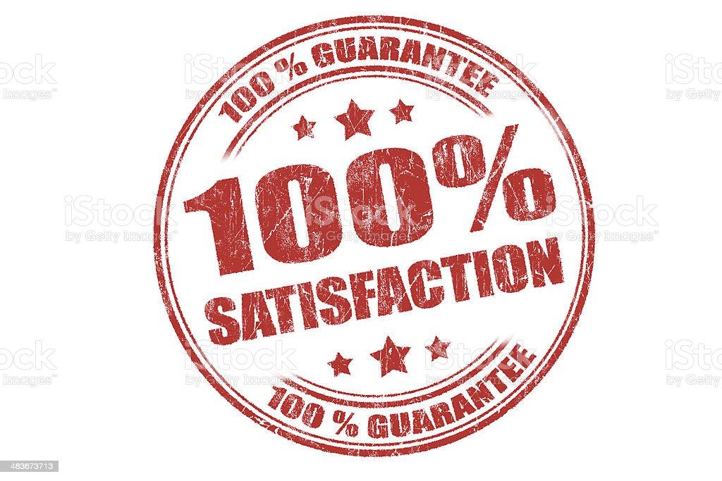 Satisfaction Guarantee Rubber Stamp stock photo
