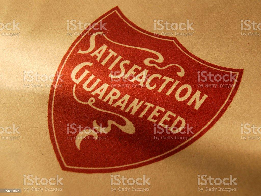 Satisfaction Guaranteed 3 royalty-free stock photo
