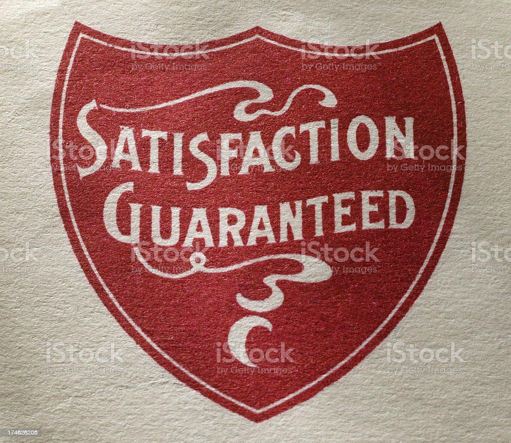 Satisfaction Guaranteed 5 royalty-free stock photo