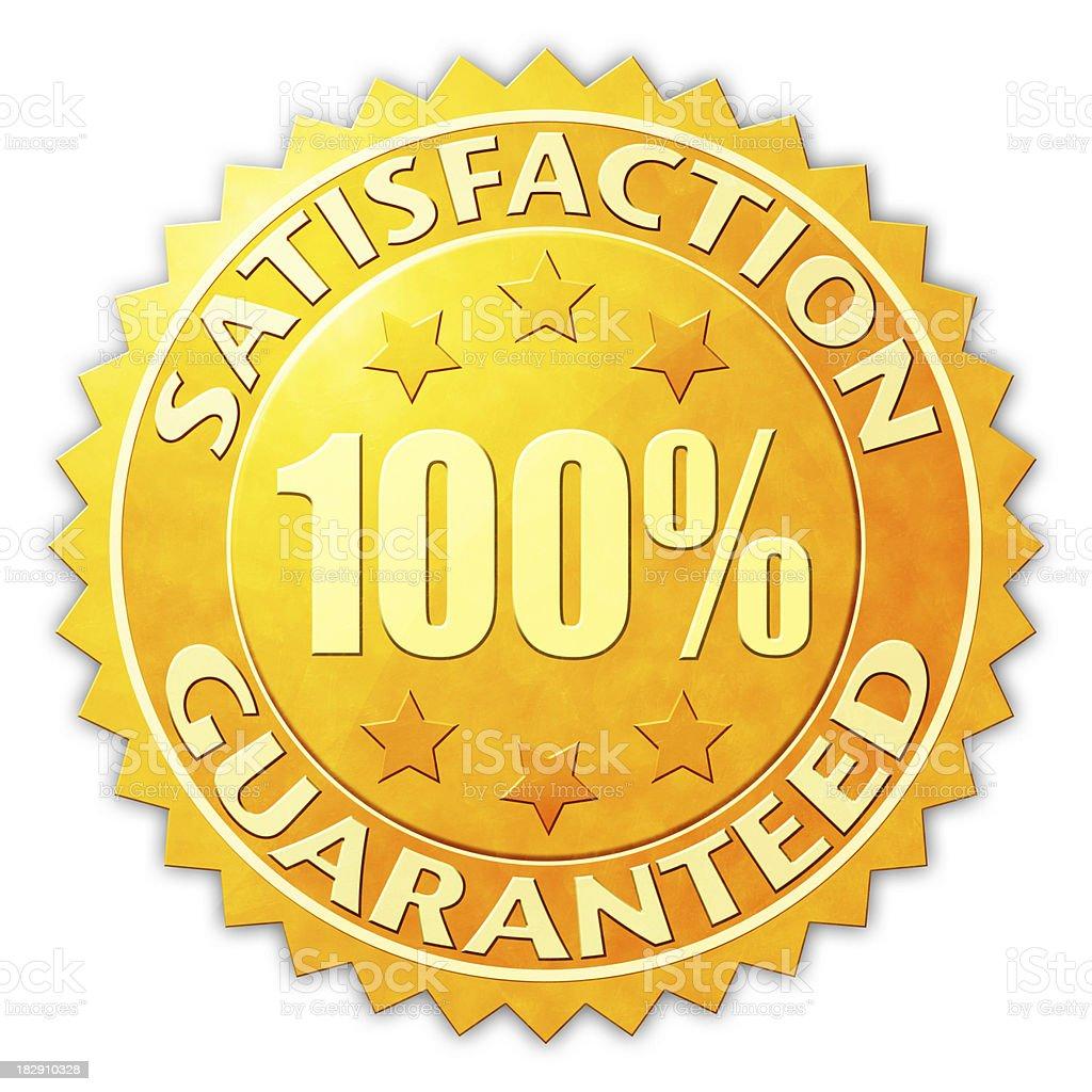 Satisfaction Guaranteed Badge stock photo