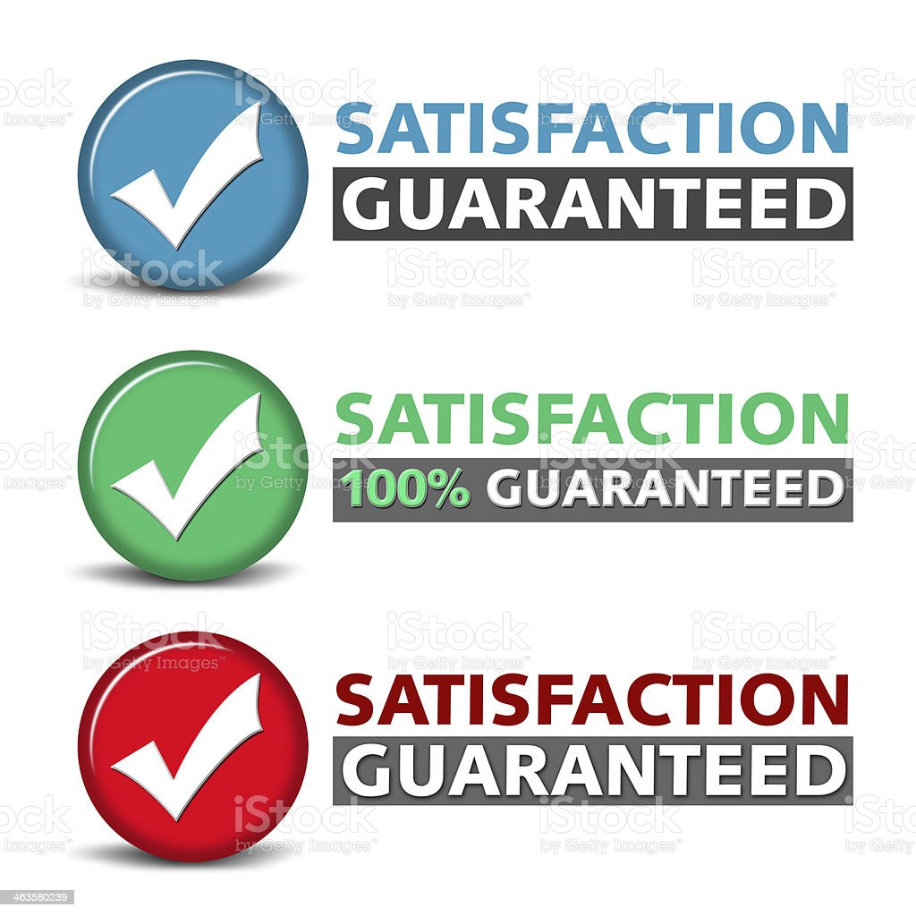 Satisfaction Guaranteed Icon stock photo