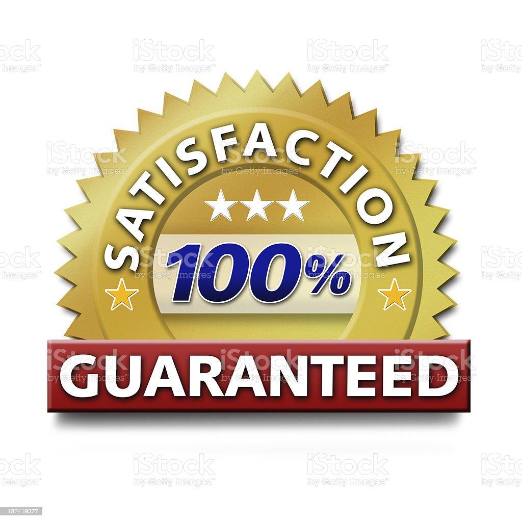 Satisfaction Guaranteed stock photo