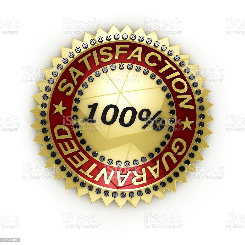 Satisfaction Guaranteed seal royalty-free stock photo