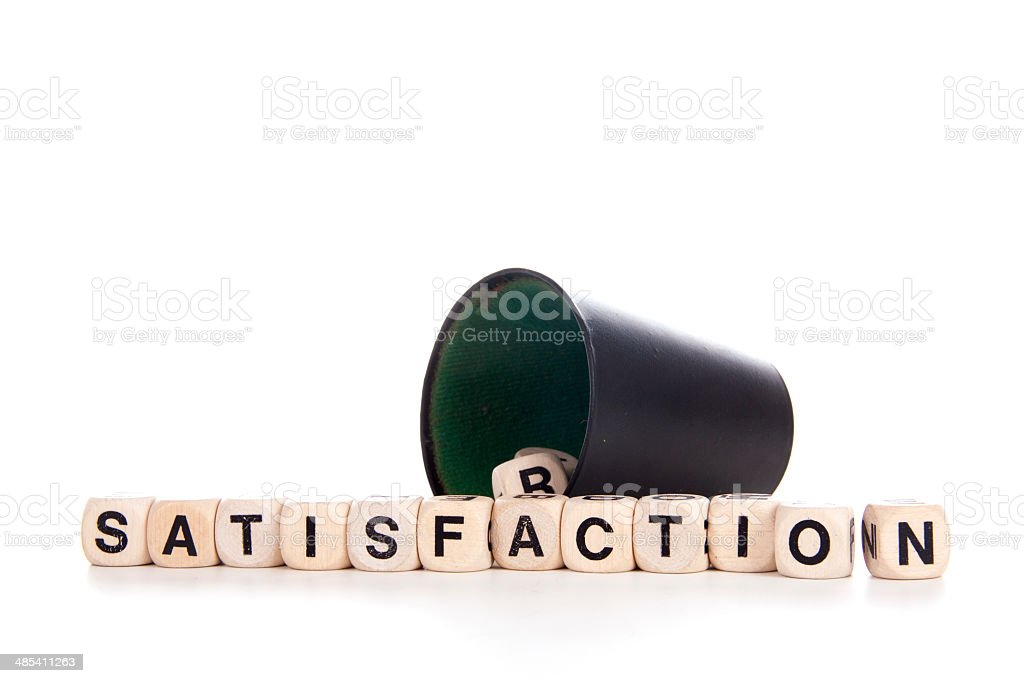 satisfaction in dices royalty-free stock photo