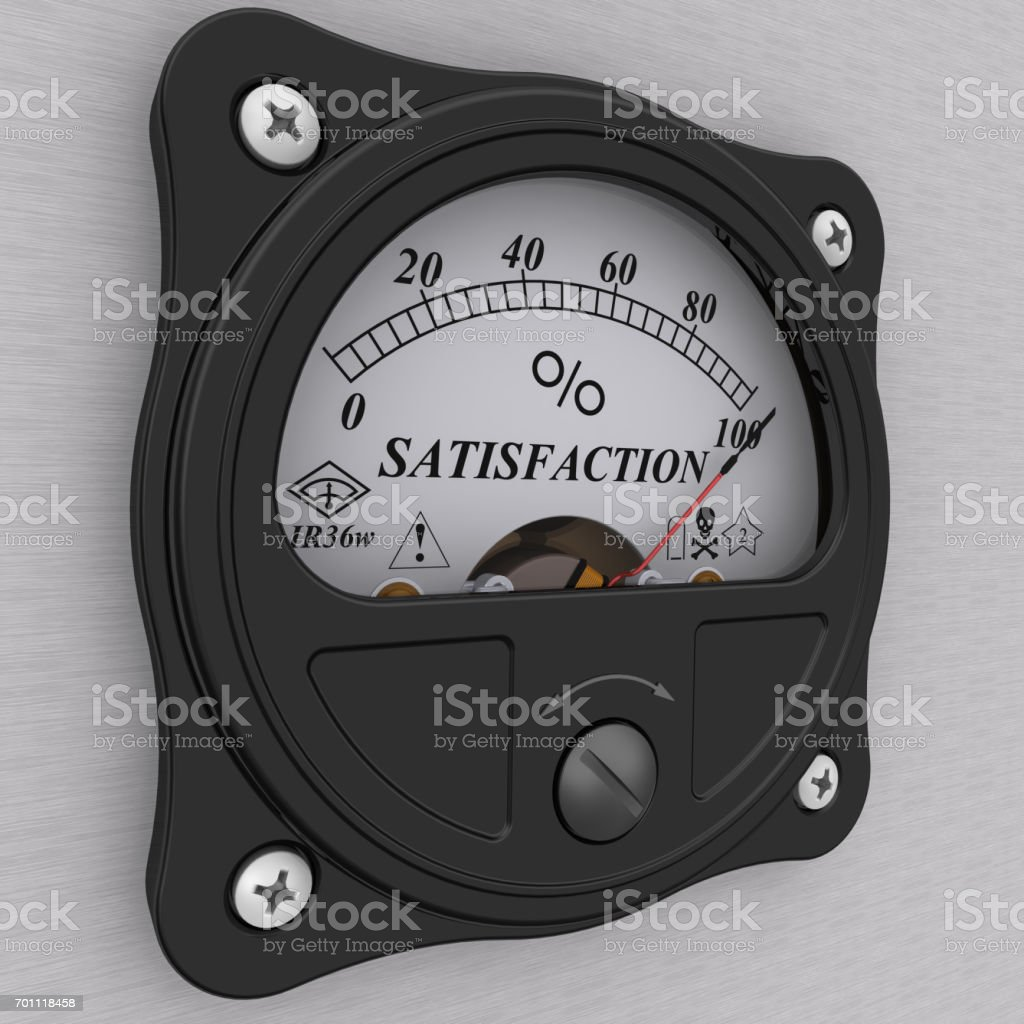Satisfaction indicator stock photo