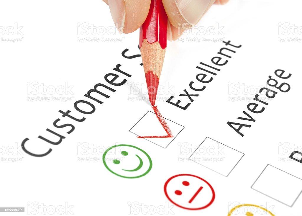 satisfaction survey stock photo