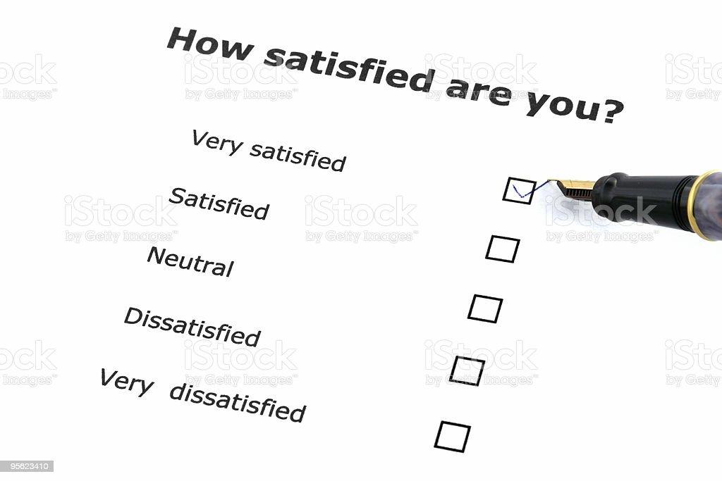 satisfaction survey royalty-free stock photo