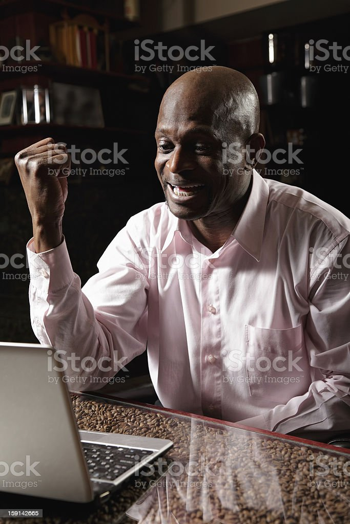 Satisfied african man royalty-free stock photo