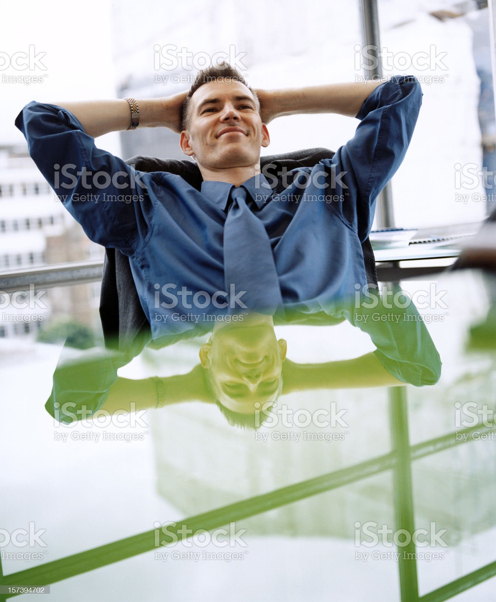 Satisfied Businessman royalty-free stock photo