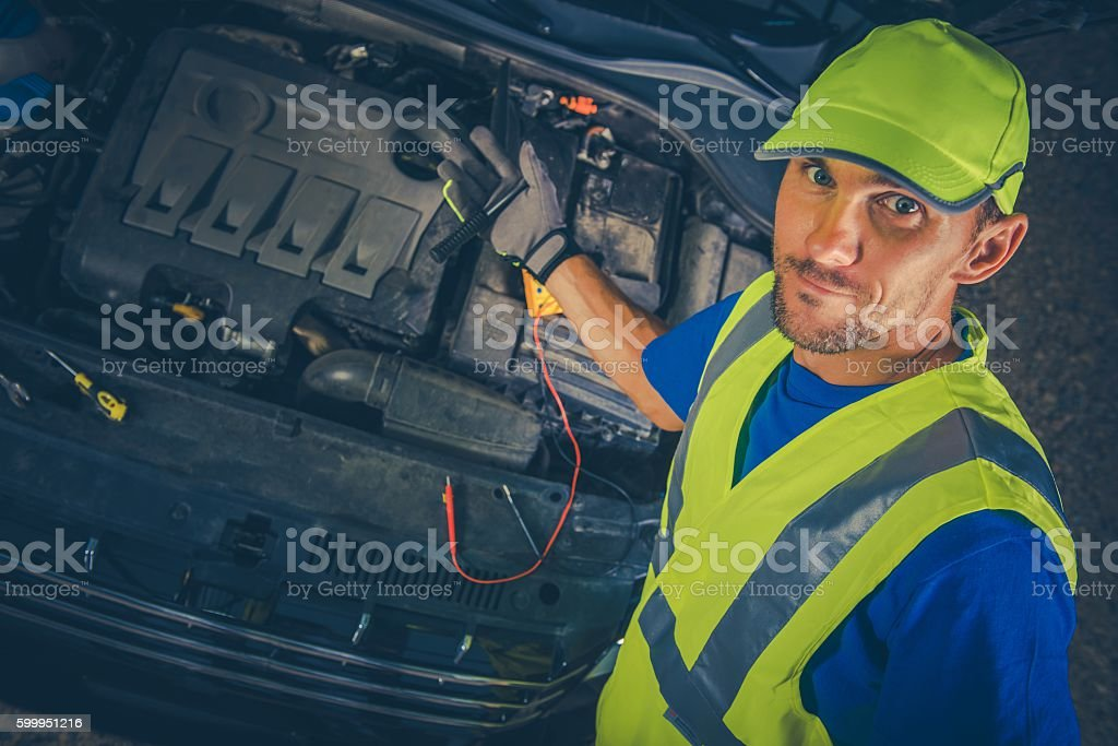 Satisfied Car Mechanic stock photo