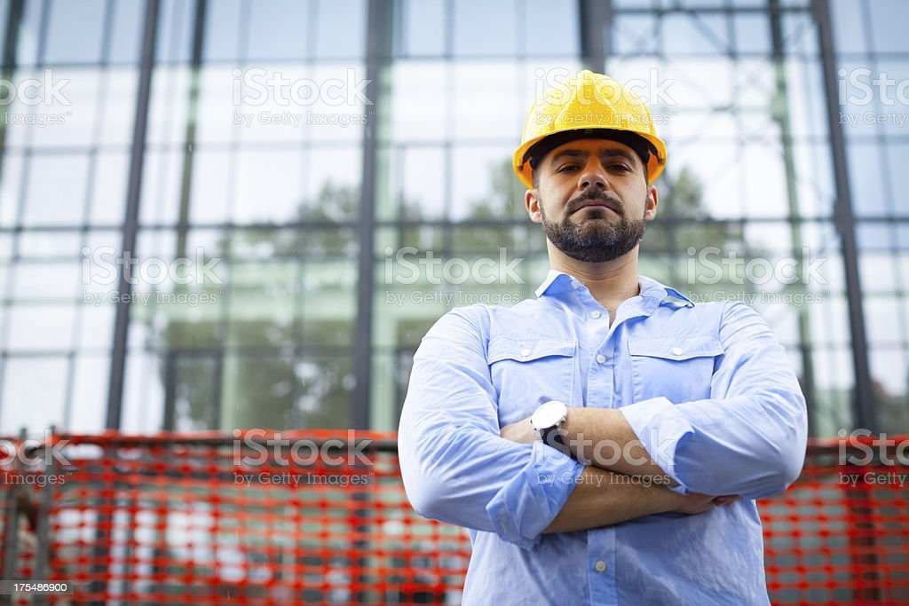 Satisfied  construction manager royalty-free stock photo
