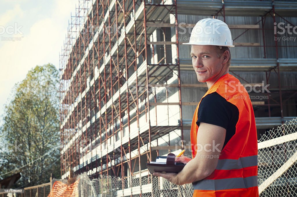 Satisfied construction supervisor royalty-free stock photo